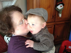 Kathy with her first grandchild, Ben.  This little boy has Kathy wrapped around her little finger in the sweetest of ways.  She is never more beautiful when in the presence of her family - because love shines out of her like the sun on a perfect beach day.