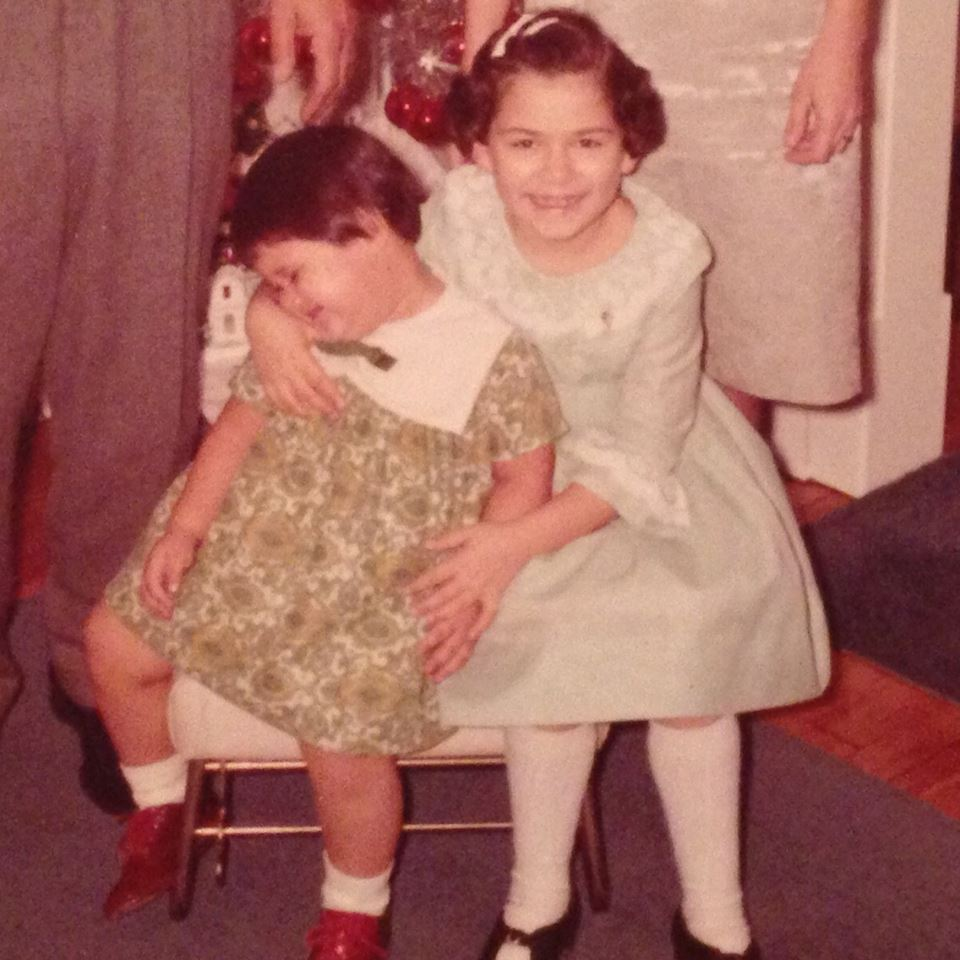 I am the bashful one on the left - the only known documentation of me being camera shy.  That cutie on the right - that's my sissy.  And today is her day to know how loved she is.